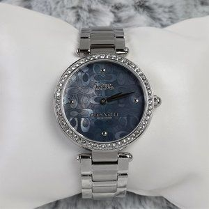 CoachPark Crystal Accent Blue Signature C Watch
